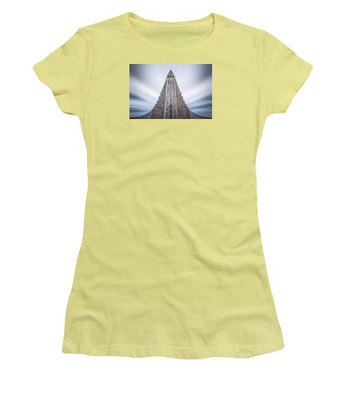 Hallgrimskirkja Cathedral Women's T-Shirt (Athletic Fit)