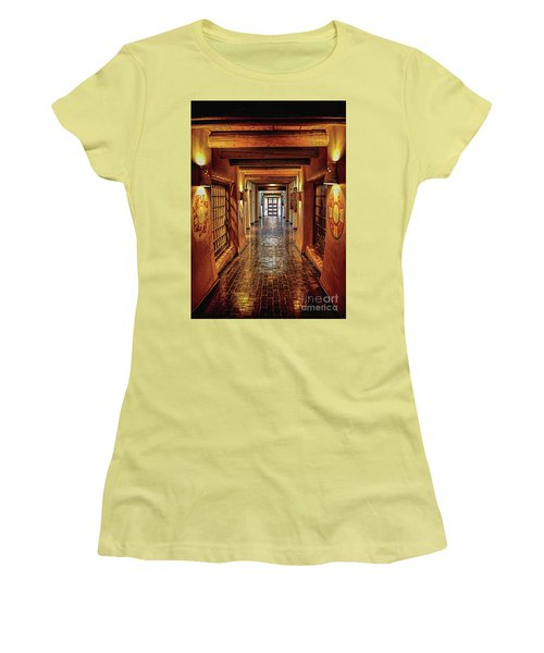 Women's T-Shirt (Junior Cut) featuring the photograph Halls Of Loretto by Gina Savage