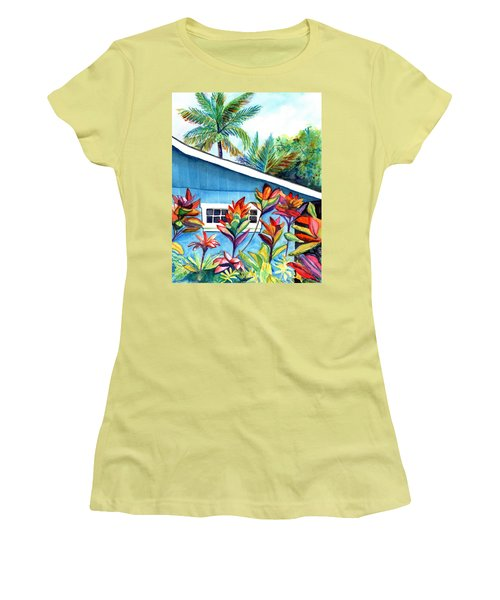 Hanalei Cottage Women's T-Shirt (Junior Cut) by Marionette Taboniar