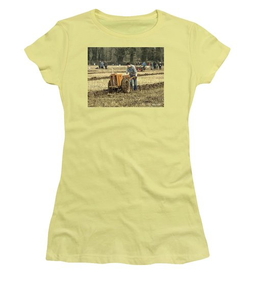 Women's T-Shirt (Junior Cut) featuring the photograph Hand Held Tractor Plough by Roy McPeak