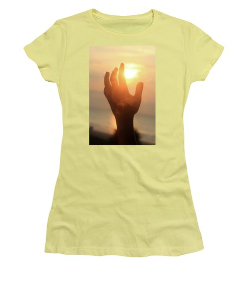 Hand Reaching Fore The Sun Women's T-Shirt (Athletic Fit)