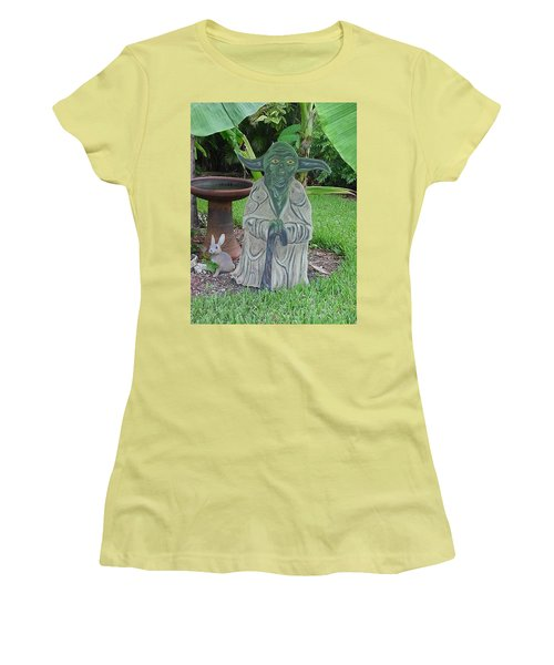 Hanging Out In The Garden Women's T-Shirt (Junior Cut) by Val Oconnor