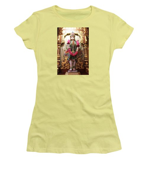 Hanuman Ji, Radha Gopinath Mandir, Mumbai Women's T-Shirt (Athletic Fit)