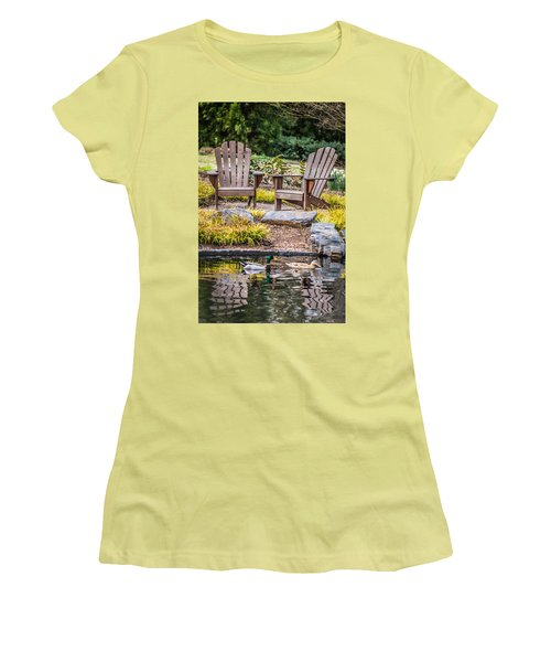 Women's T-Shirt (Junior Cut) featuring the photograph Happiness Goes On by Wade Brooks