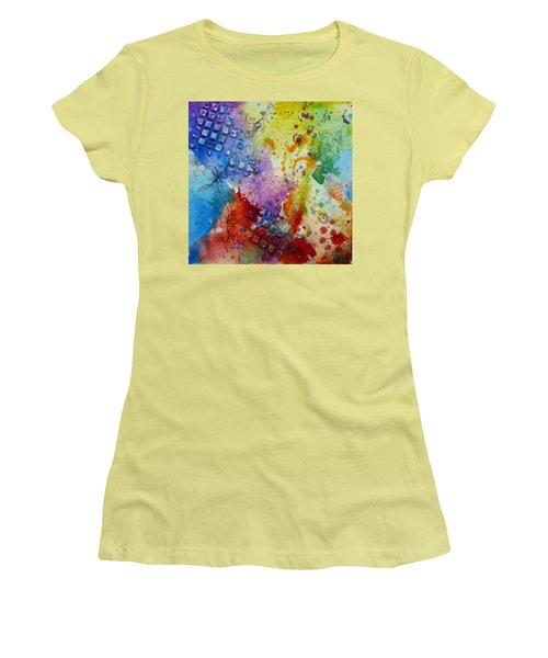 Happy Accidents Women's T-Shirt (Junior Cut) by Tracy Bonin