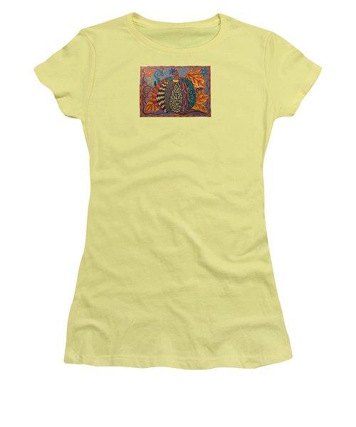 Happy Autumn  Women's T-Shirt (Junior Cut) by Molly Williams