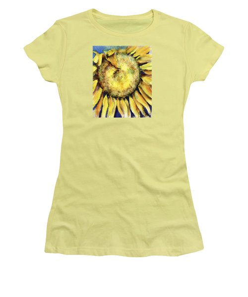 Women's T-Shirt (Junior Cut) featuring the painting Happy Day by Annette Berglund
