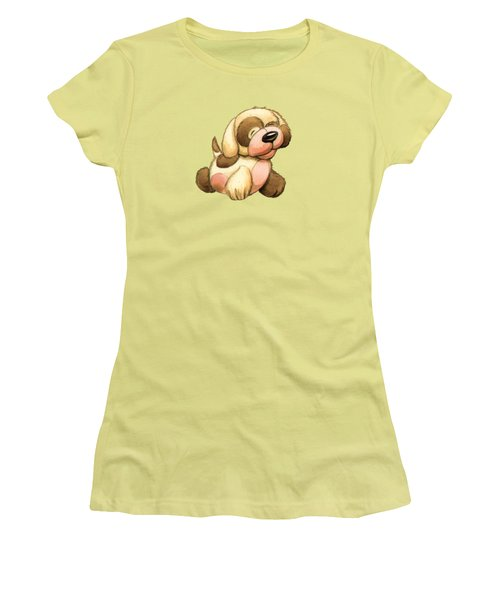 Happy Dog Women's T-Shirt (Junior Cut) by Andy Catling