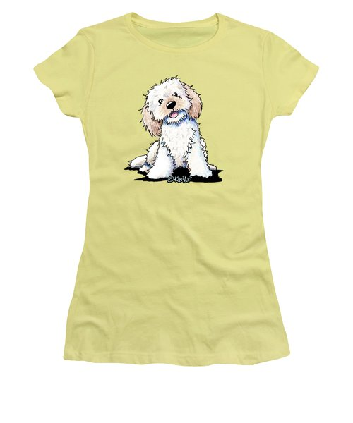 Happy Doodle Puppy Women's T-Shirt (Athletic Fit)