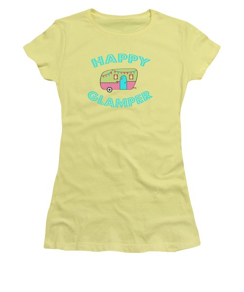 Happy Glamper 1 Women's T-Shirt (Junior Cut) by Lisa Bradley