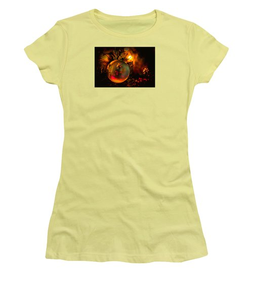 Happy Holidays Background Women's T-Shirt (Junior Cut) by Kevin Cable