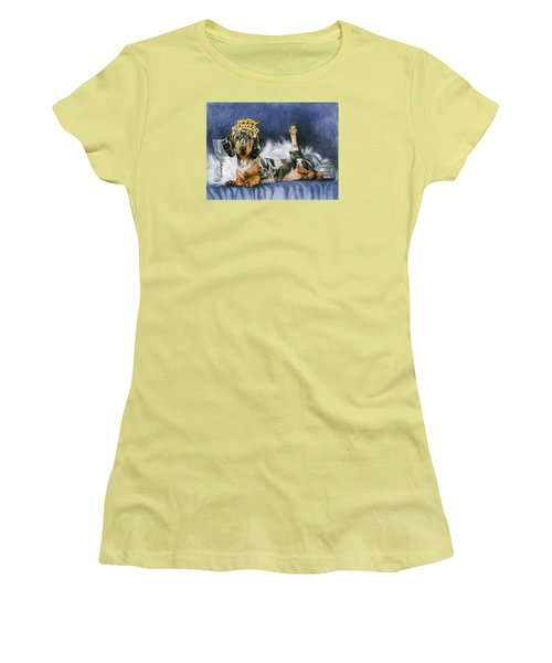 Women's T-Shirt (Junior Cut) featuring the mixed media Happy New Year by Barbara Keith