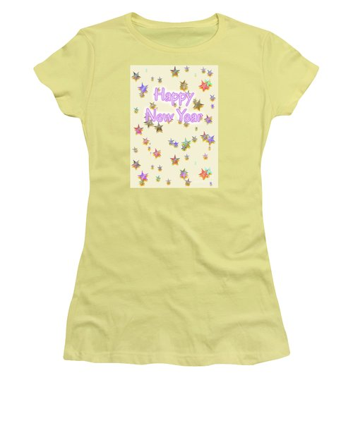 Happy New Year Stars Women's T-Shirt (Athletic Fit)