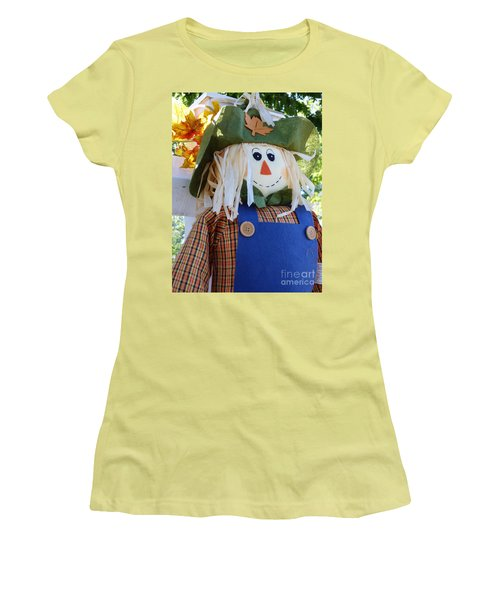Happy Scarecrow Women's T-Shirt (Athletic Fit)