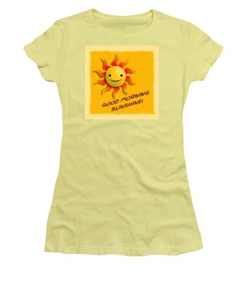 Happy Sun Face Women's T-Shirt (Junior Cut) by John Wills