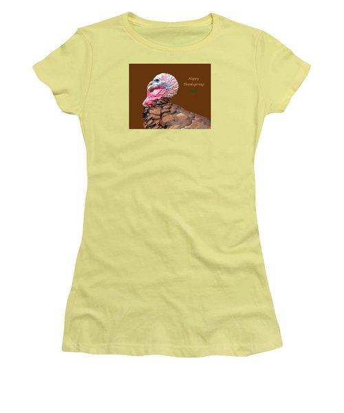 Happy Thanksgiving Women's T-Shirt (Junior Cut) by Marion Johnson
