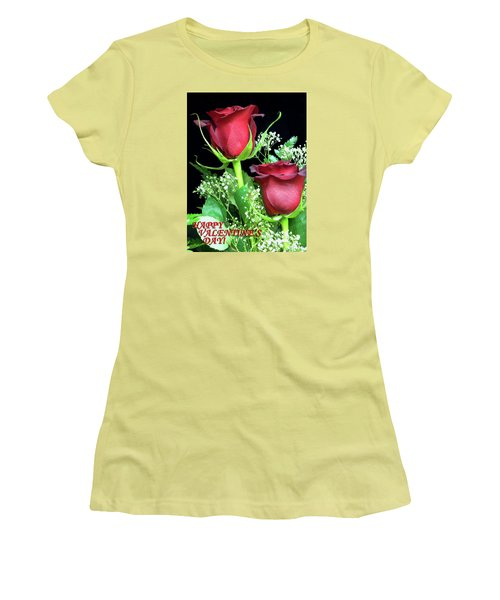 Women's T-Shirt (Junior Cut) featuring the photograph Happy Valentines Day by Sandi OReilly
