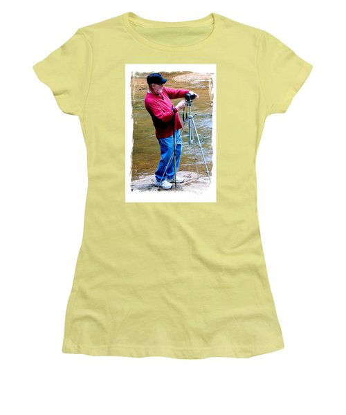 Hard At Work Women's T-Shirt (Junior Cut) by Marilyn Carlyle Greiner