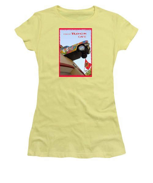 Women's T-Shirt (Junior Cut) featuring the photograph Hard Rock Cafe N Y by Bob Pardue