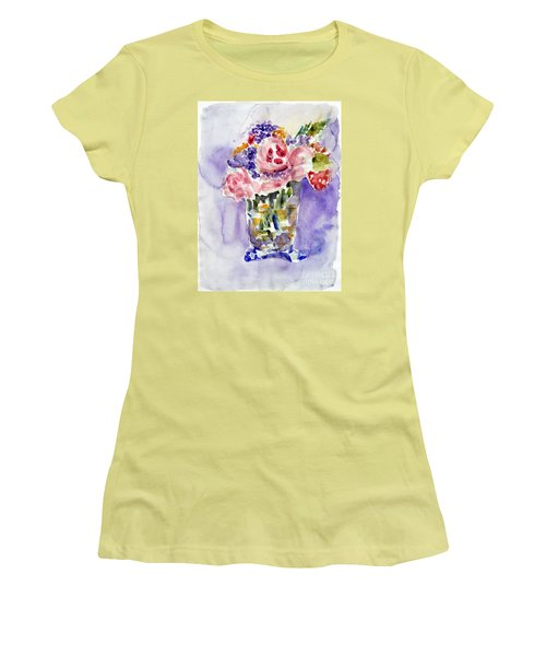 Harlequin Or Bright Side Of Life Women's T-Shirt (Junior Cut) by Jasna Dragun