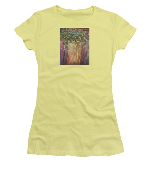 Harlequin Water Lillies Women's T-Shirt (Athletic Fit)