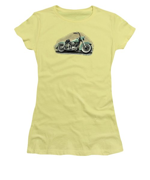 Harley Davidson Classic  Women's T-Shirt (Junior Cut) by Movie Poster Prints