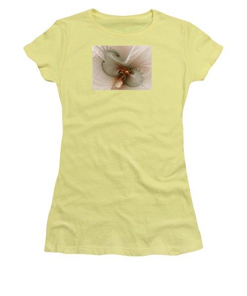 Women's T-Shirt (Junior Cut) featuring the digital art Harmonius Coexistence by Karin Kuhlmann