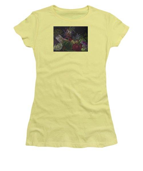 Women's T-Shirt (Junior Cut) featuring the drawing Harvest by Dawn Fairies
