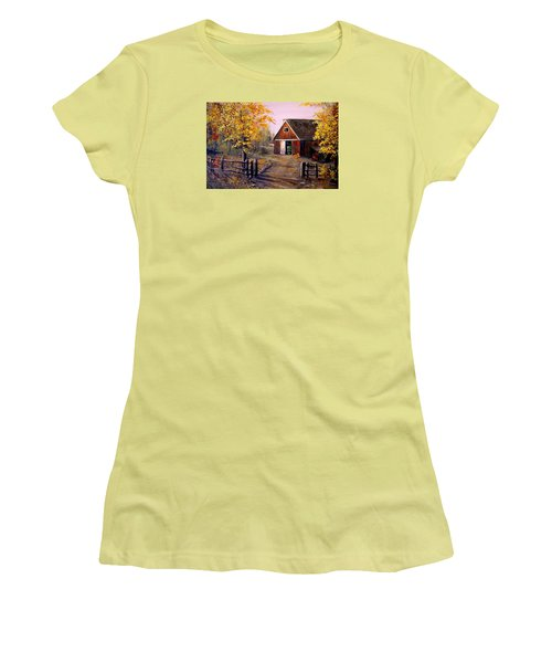Harvest Time Women's T-Shirt (Junior Cut) by Alan Lakin