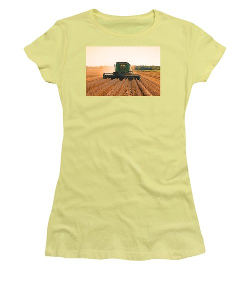 Harvesting Soybeans Women's T-Shirt (Junior Cut) by Ronald Olivier