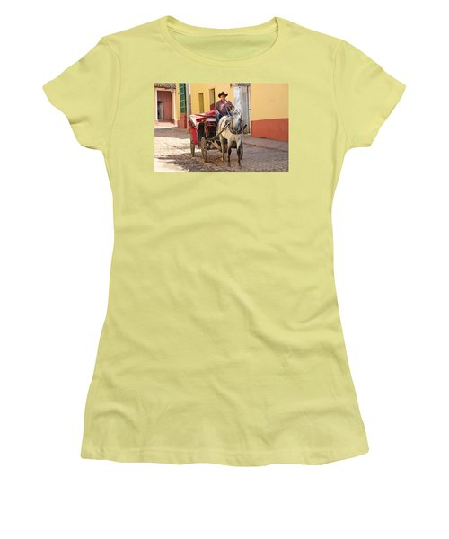 Hauling Frieght In Trinidad Women's T-Shirt (Athletic Fit)