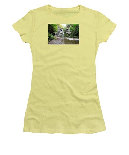 Women's T-Shirt (Junior Cut) featuring the photograph Beautiful Eagle Cliff Falls  by Trina  Ansel