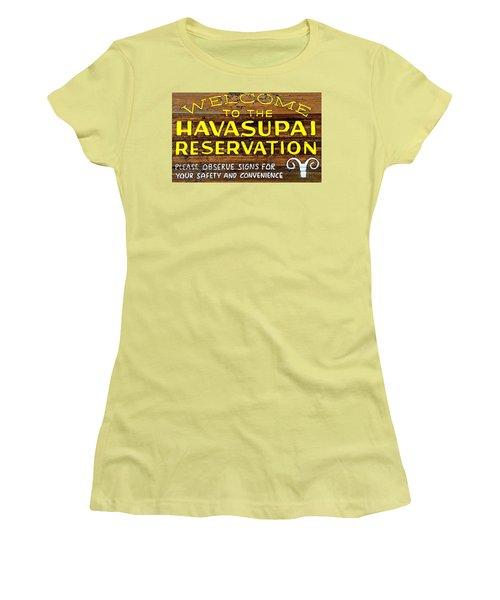 Havasupai Reservation Women's T-Shirt (Junior Cut) by Joseph Hendrix