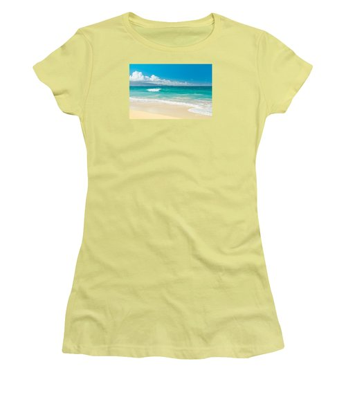 Women's T-Shirt (Athletic Fit) featuring the photograph Hawaii Beach Treasures by Sharon Mau