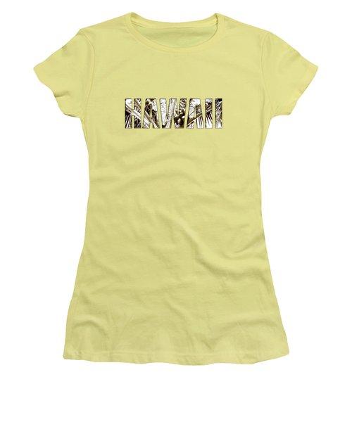 Women's T-Shirt (Junior Cut) featuring the photograph Hawaii Coconut Palm Type by Kerri Ligatich