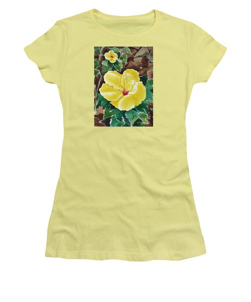 Hawaiian Hibiscus Women's T-Shirt (Athletic Fit)