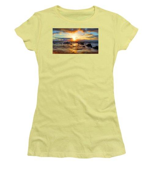 Hawaiian Paradise Women's T-Shirt (Junior Cut) by Michael Rucker