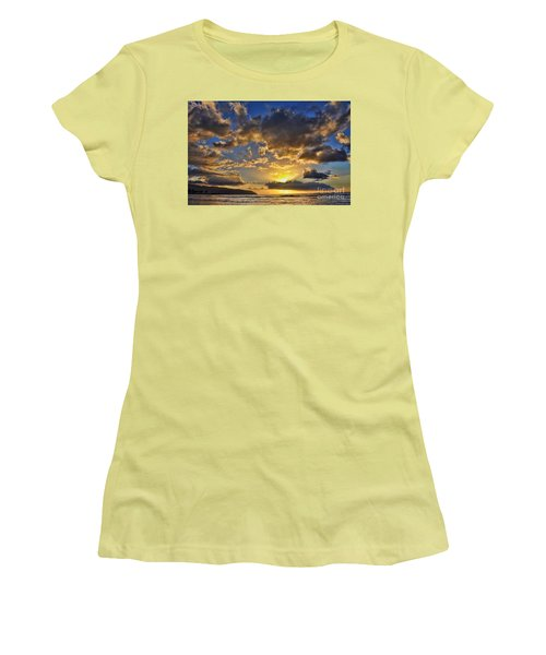 Women's T-Shirt (Junior Cut) featuring the photograph Hawaiian Sunset by Gina Savage
