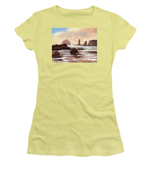 Hay Stack Reef Women's T-Shirt (Junior Cut) by Randy Sprout