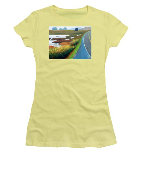 Women's T-Shirt (Junior Cut) featuring the painting Heading North by Gary Coleman