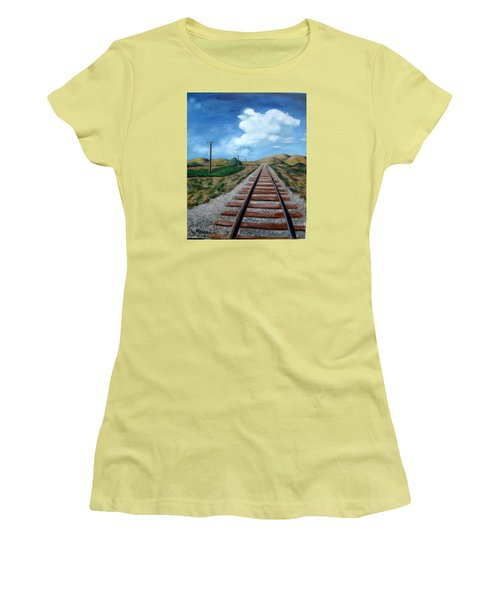 Heading West Women's T-Shirt (Junior Cut) by Laurie Morgan