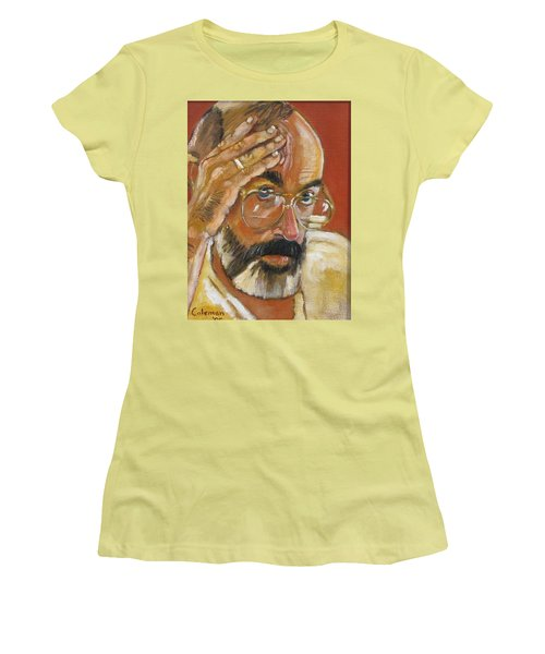 Women's T-Shirt (Junior Cut) featuring the painting Headshot by Gary Coleman