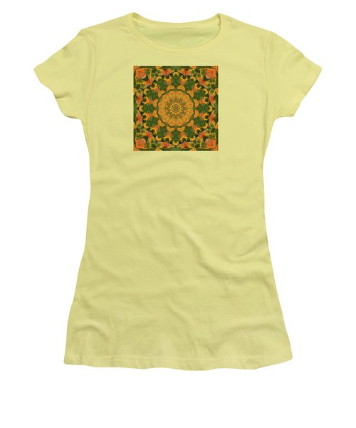 Women's T-Shirt (Junior Cut) featuring the photograph Healing Mandala 9 by Bell And Todd