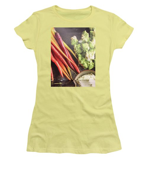 Women's T-Shirt (Athletic Fit) featuring the photograph Healthy Food Veggie Salad Kitchen Chef Cuisine Birthday Christmas Festivals Mom Dad Festivals Sister by Navin Joshi