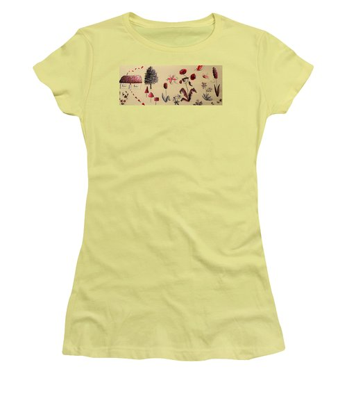 Heart Cottage Red 3 Women's T-Shirt (Junior Cut) by Kathy Spall