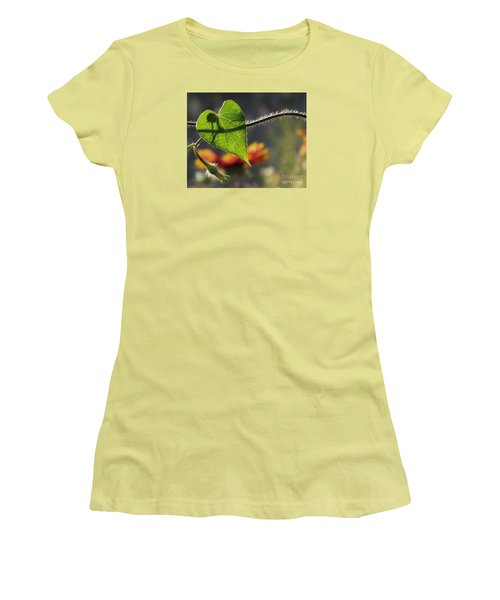 Heart Leaf 1 Women's T-Shirt (Athletic Fit)