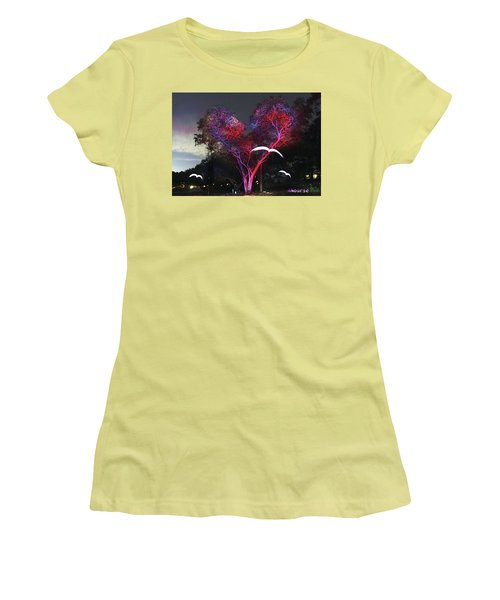 Heart Tree And Birds Women's T-Shirt (Junior Cut) by Andrew Nourse
