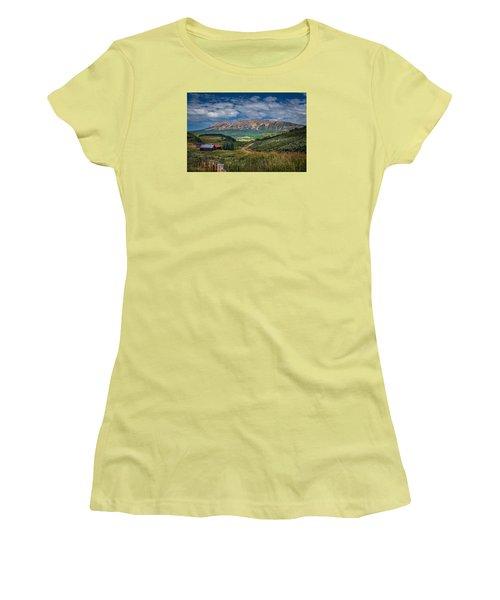 Heartland Of The Colorado Rockies Women's T-Shirt (Junior Cut) by Michael J Bauer