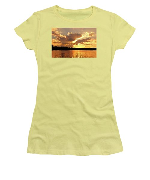 Women's T-Shirt (Athletic Fit) featuring the photograph Heaven Shining by Lynda Lehmann