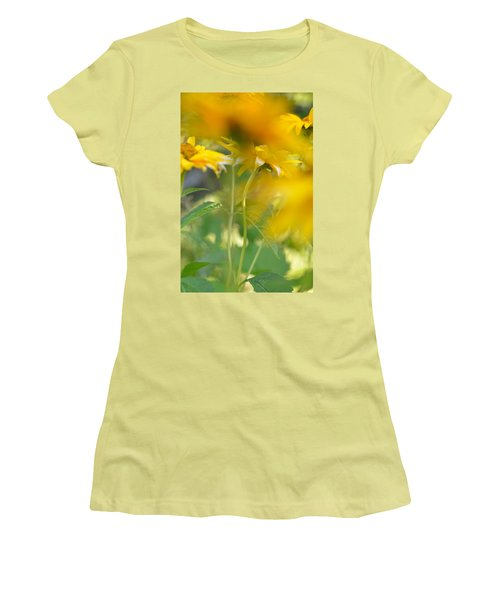 Heliopsis Blur Women's T-Shirt (Junior Cut) by Janet Rockburn